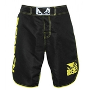 MMA Shorts - Black/Yellow