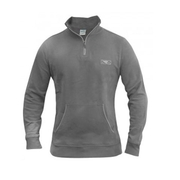 California V Neck Hoodie - Grey